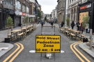 ... the street itself, which has been temporarily pedestrianised during COVID-19.
