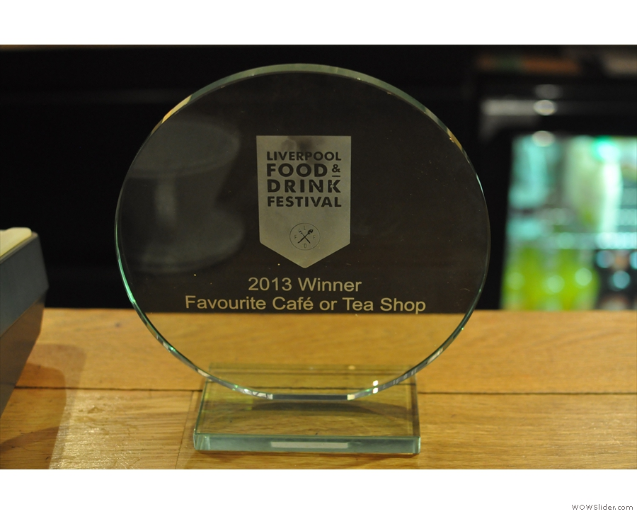 A last, but not least, Bold Street Coffee's latest award!