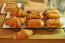 There are also pastries, including a croissant attempting a sneaky getaway.