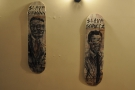 The artwork here is drawn on skate boards.