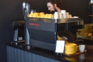 However, I was there for some espresso from the La Marzocoo at the end of the counter.