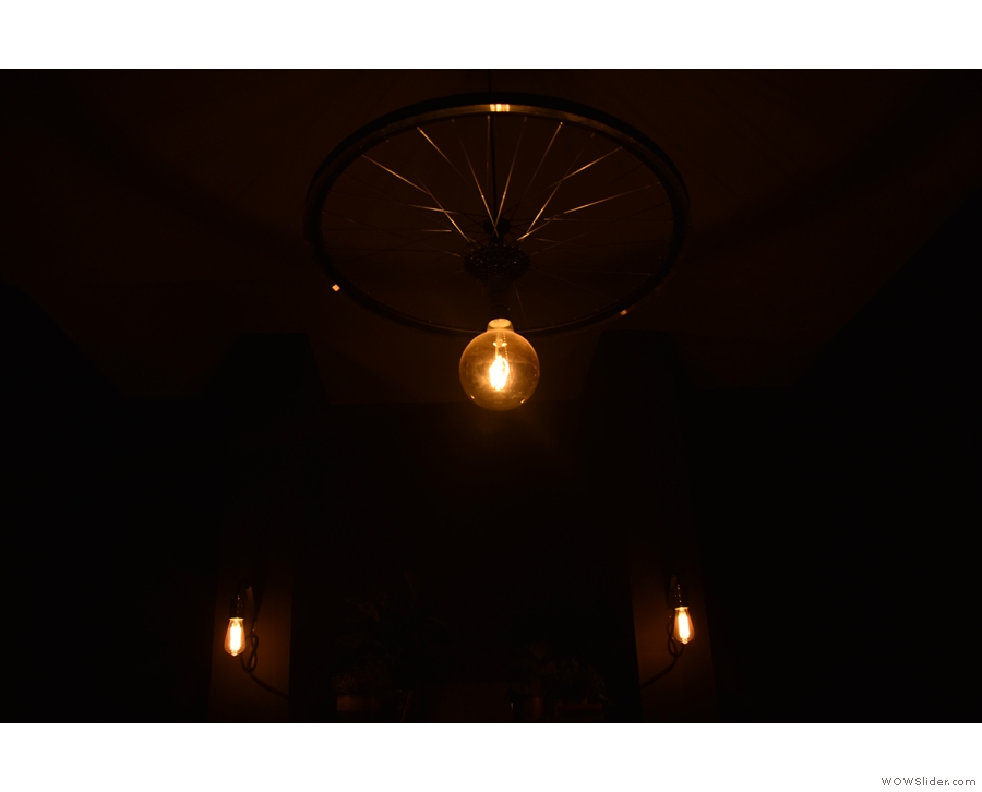 This time around, I was fascinated by the light fittings in the back room as well.