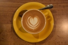 ... with some lovely latte art, which I followed up with...