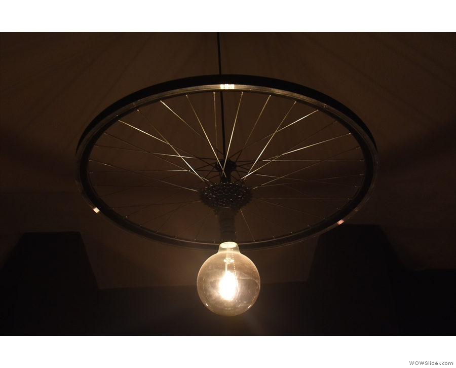 I think it's safe to call this a 'bespoke' light fitting.