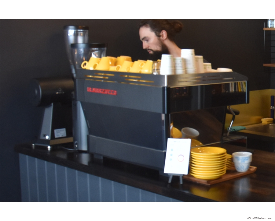 ... I had some espresso from the La Marzocoo at the end of the counter.