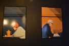 ... let's take a look at the paintings on the back wall. There's more art...