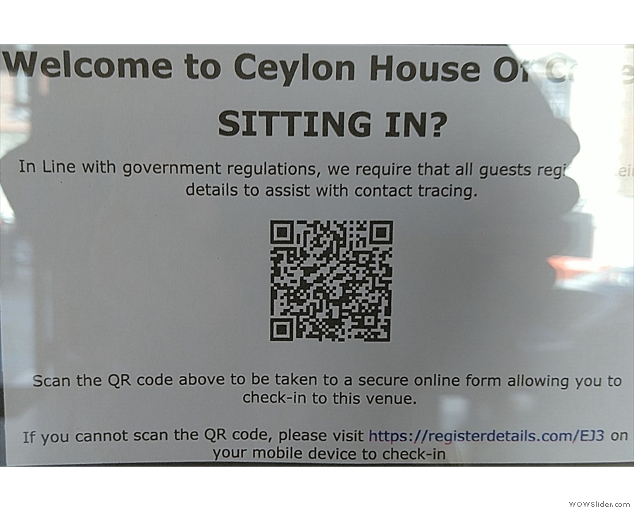 There's also a QR Code where you can check in.
