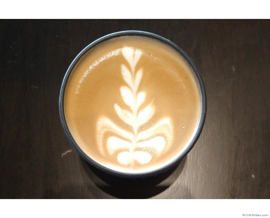 ... HuskeeCup. It had some lovely latte art...
