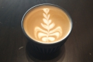 Of course, you can always bring your own, like I did for my flat white, which I had in my...
