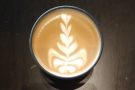 ... HuskeeCup. It had some lovely latte art...