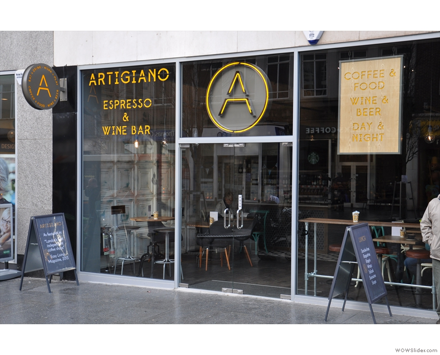 Artigiano Espresso & Wine Bar, creating a stir on Exeter High Street.