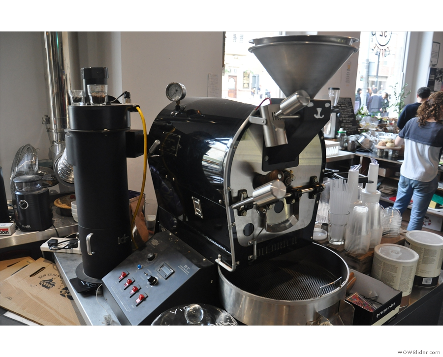 ... compact installation (although it's since been moved to a dedicated roastery).