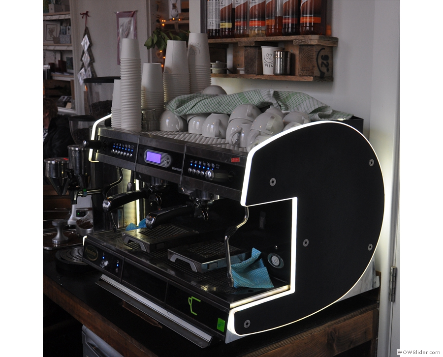 There have been other changes. The old espresso machine, seen here in 2015...