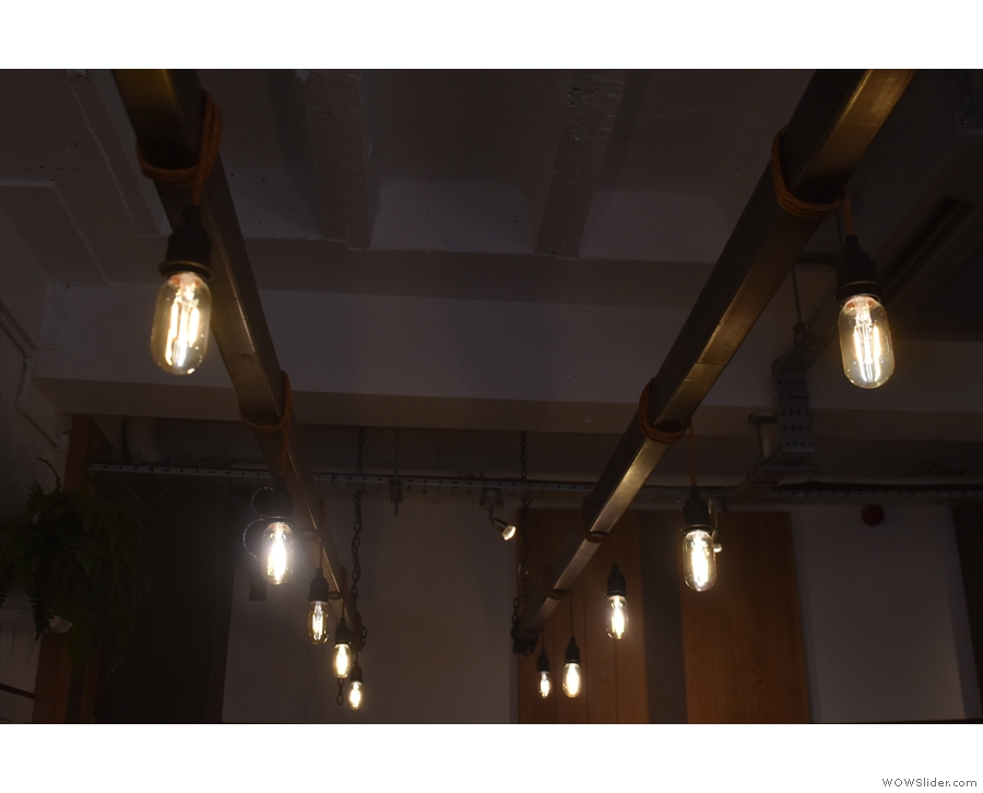 ... hanging from a bespoke lighting rig. Can you guess which photo was from 2016?