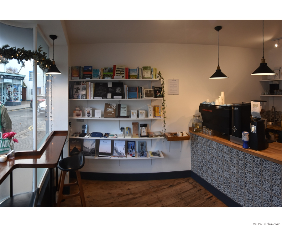 December, and the end of the year saw me in Whitstable at Blueprint Coffee & Books.