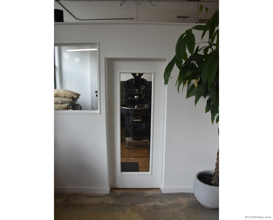 ... with access through this sliding door near the front of Quarter Horse.