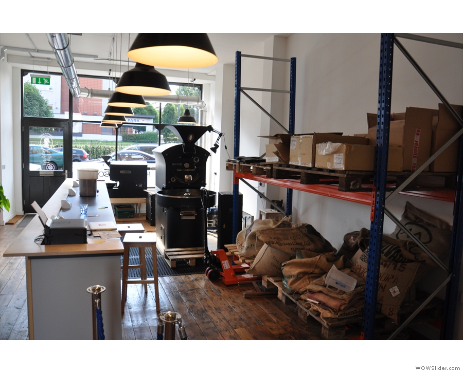 This was the extent of the original roastery before the refit.