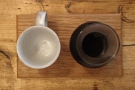... through the V60 and served in a carafe, with the cup on the side, all presented on...