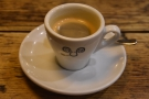 I visited twice. On my first visit, in September, I had the guest espresso...
