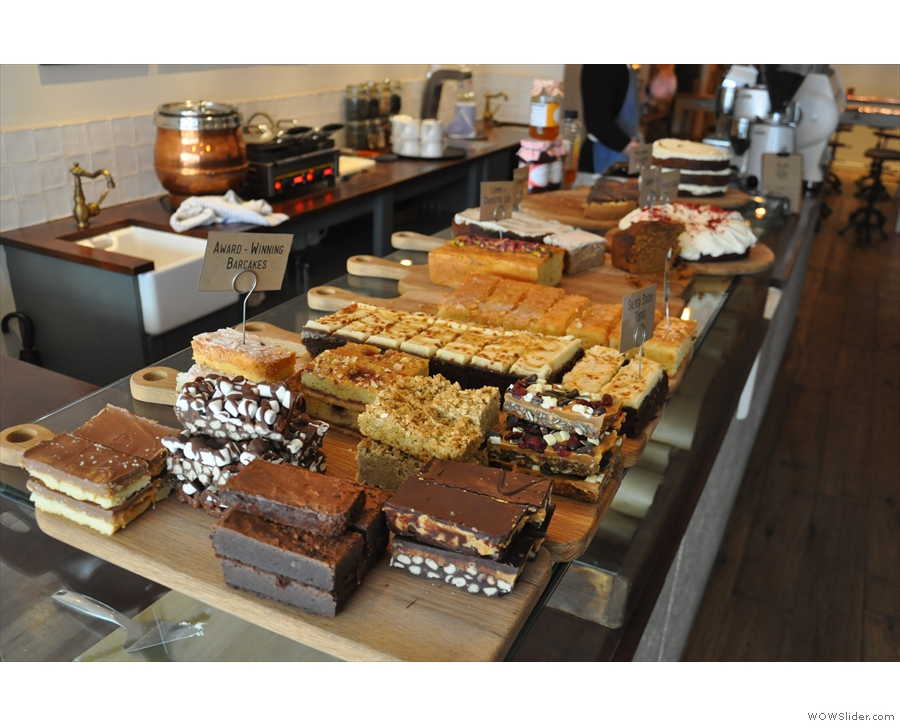 ...led by an impressive selection of cake right at the front of the counter.
