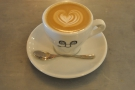My very lovely flat white. I love the cups, by the way.