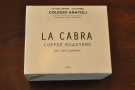 Don't let the bag from The Barn fool you though: my coffee was from La Cabra.