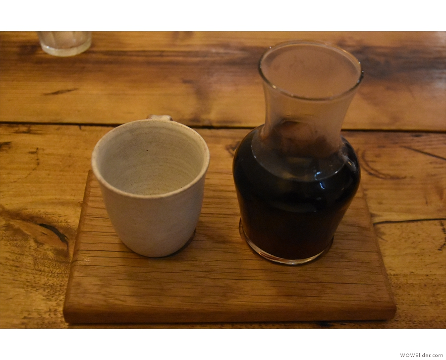 I paired this with the filter option, a single-origin from the DRC, which was prepared...