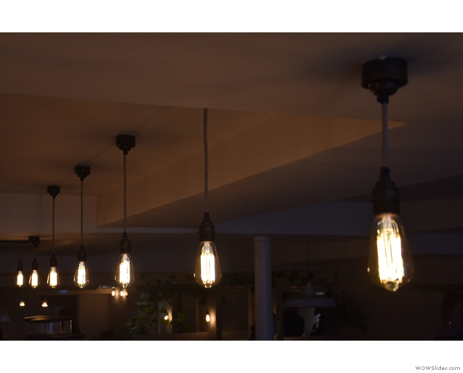 Effectively a basement, Jaunty Goat has many light bulbs. There are over the counter...