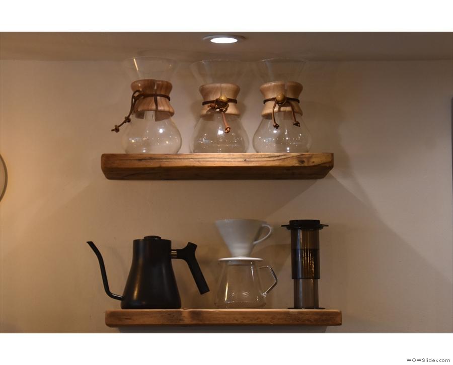 Jaunty Goat uses three brew methods for its filter coffee: Chemex, V60 & AeroPress.
