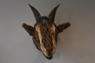 Keeping with the goat theme, this wicker goat's head is one of the original features...