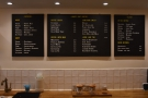 ... to order takeaway, where you'll find the drinks menus on the back wall.