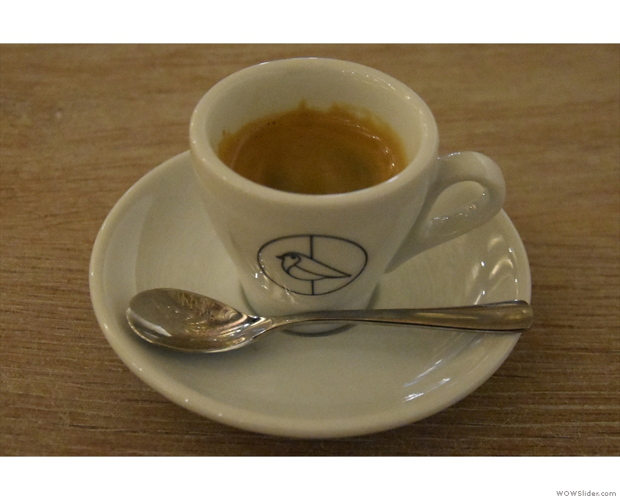 I treated myself to a shot of the guest, a Don Sabino from Costa Rica, which was divine.