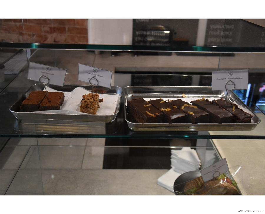 The front of the counter is still home to the cakes, although by the time I arrived...