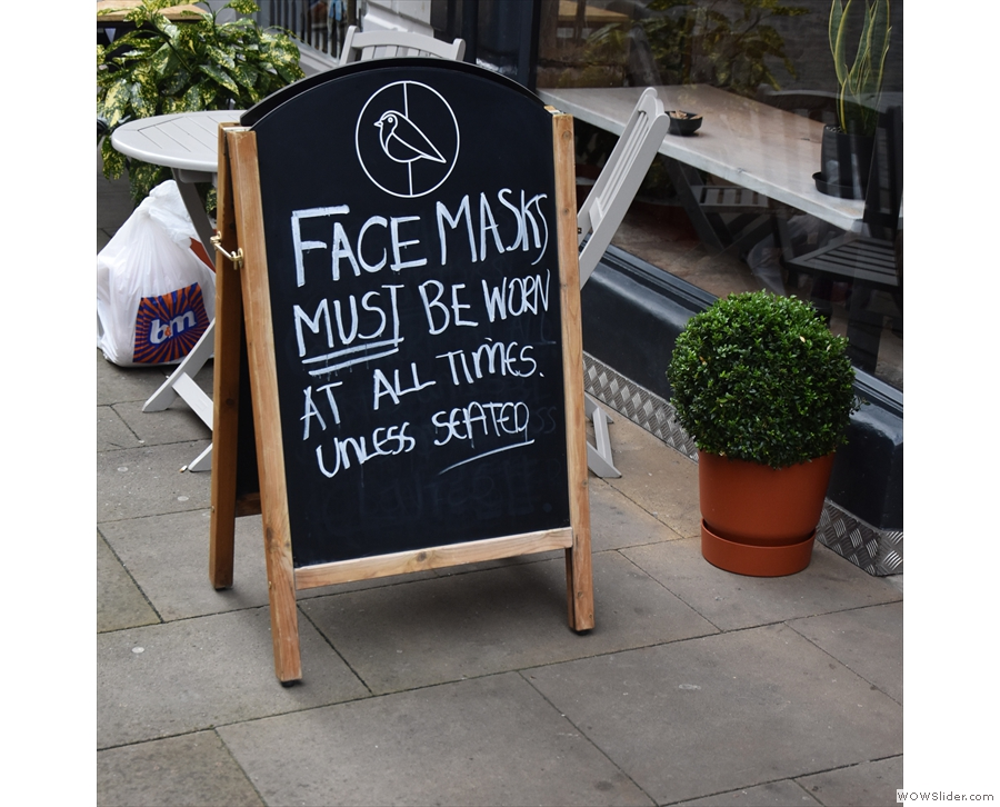 A sign of the times (from my most recent visit)...