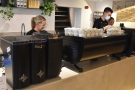 ... when I visited, the shots being pulled on the Black Eagle espresso machine at the end.