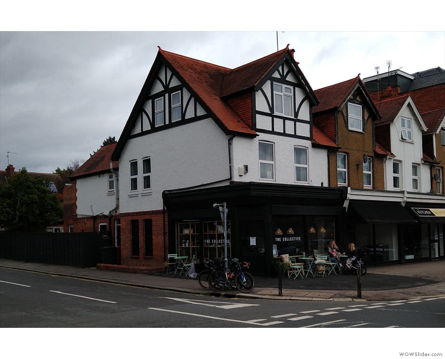 On the corner of St Anne's Road and Church Road in Caversham, it's The Collective.
