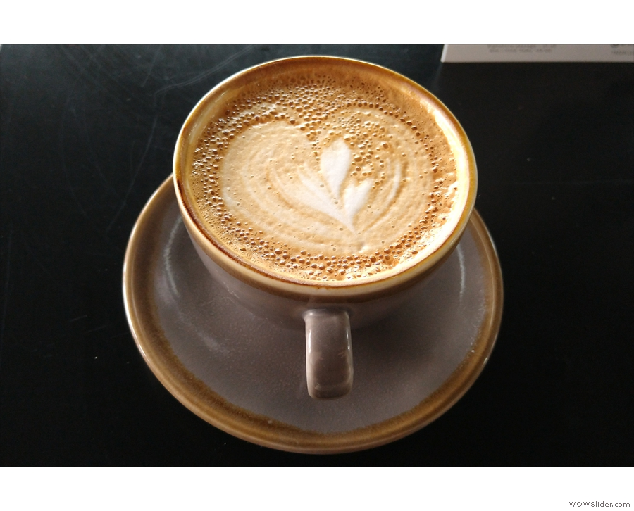 I had another flat white on my return...