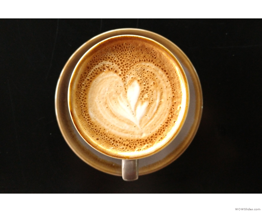 ... with some neat latte art.