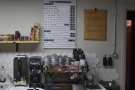 The coffee end of the business is at the back on the right.
