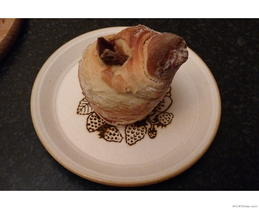 Finally, I'll leave you with my cruffin, which Phil gave me, and which I enjoyed at home.