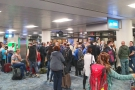 By the time I got to the gate, it was already crowded...