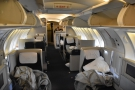 A view of the cabin at the end of the flight, which is where I'll leave you.