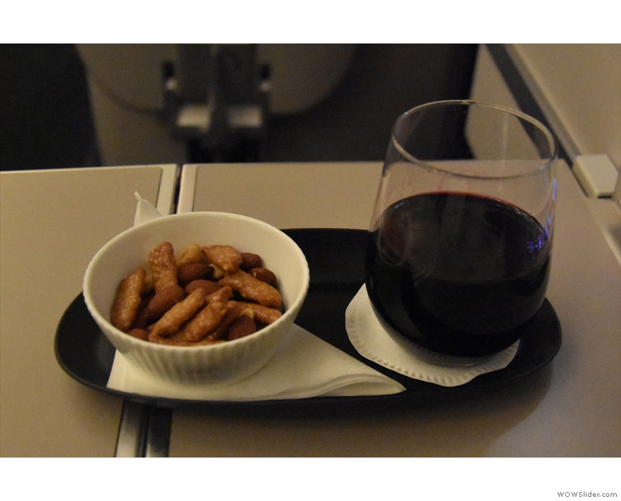 Although I wasn't eating on the flight, I did have a glass of port before bed.