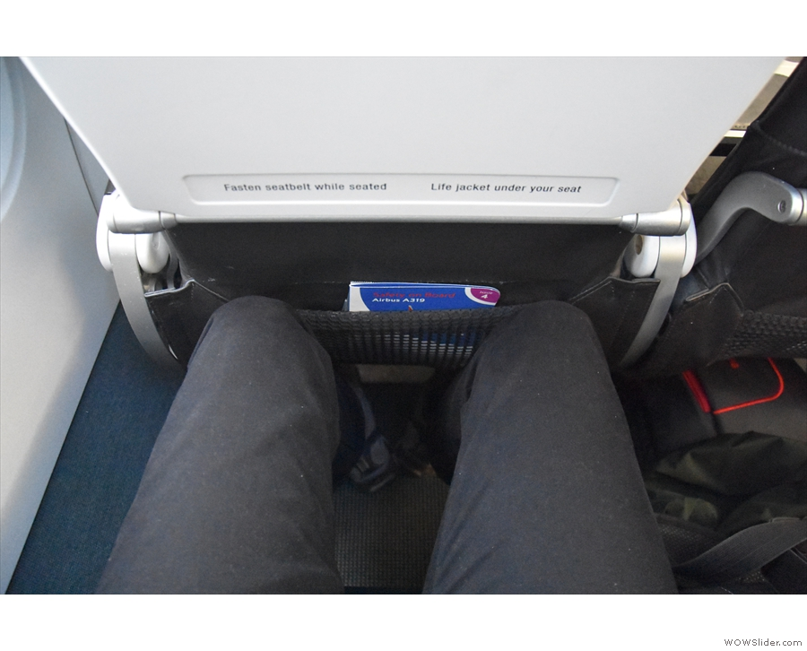 Behold my (lack of) legroom!