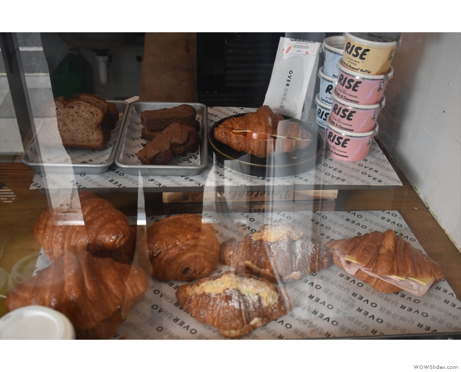 Everything's coooked in the downstairs kitchen, with the pastries displayed in a case...