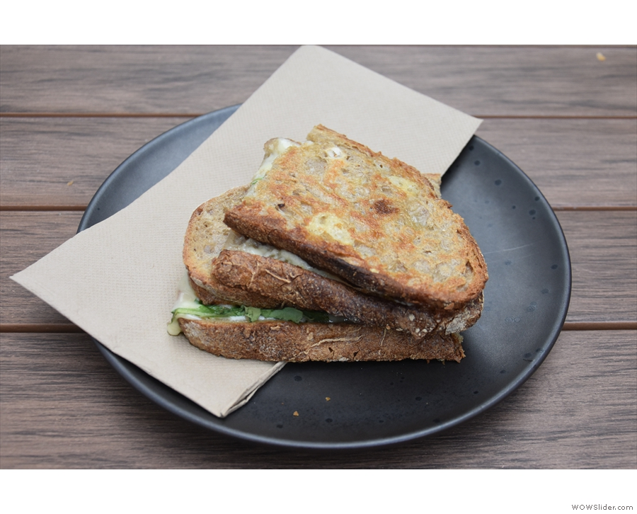 ... and paired with a cheese and truffle oil toastie for lunch.