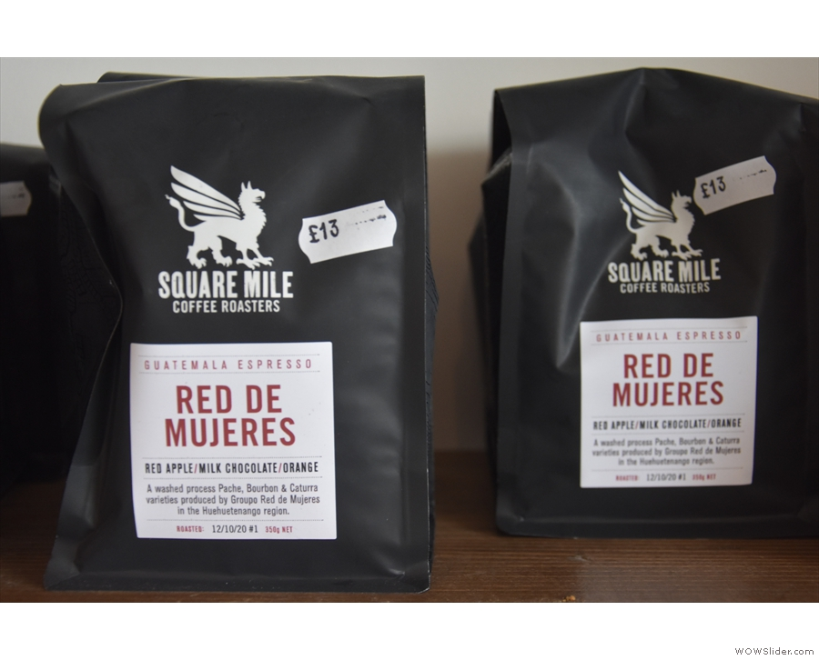 This is the current single-origin espresso from house roaster, Square Mile...