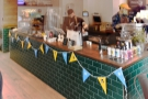 The colourful, tiled counter greets you from the back, right-hand corner.