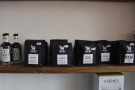 ... while the left-hand side has more coffee kit and the coffee itself.