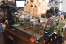 The espresso comes from the Victoria Arduino Black Eagle at the front of the counter.